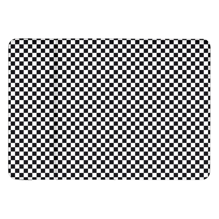 Sports Racing Chess Squares Black White Samsung Galaxy Tab 8.9  P7300 Flip Case