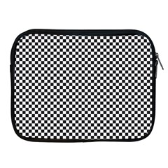 Sports Racing Chess Squares Black White Apple Ipad 2/3/4 Zipper Cases by EDDArt