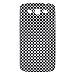 Sports Racing Chess Squares Black White Samsung Galaxy Mega 5 8 I9152 Hardshell Case  by EDDArt