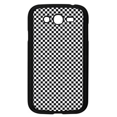 Sports Racing Chess Squares Black White Samsung Galaxy Grand Duos I9082 Case (black) by EDDArt