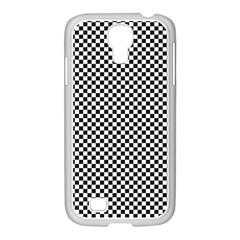 Sports Racing Chess Squares Black White Samsung Galaxy S4 I9500/ I9505 Case (white)