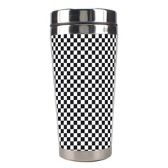 Sports Racing Chess Squares Black White Stainless Steel Travel Tumblers by EDDArt