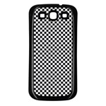 Sports Racing Chess Squares Black White Samsung Galaxy S3 Back Case (Black) Front
