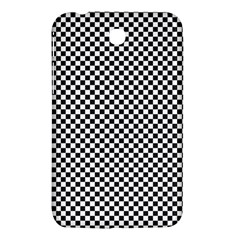 Sports Racing Chess Squares Black White Samsung Galaxy Tab 3 (7 ) P3200 Hardshell Case  by EDDArt