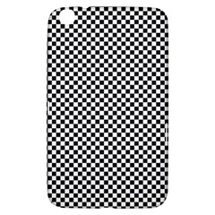 Sports Racing Chess Squares Black White Samsung Galaxy Tab 3 (8 ) T3100 Hardshell Case  by EDDArt