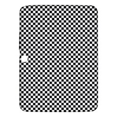 Sports Racing Chess Squares Black White Samsung Galaxy Tab 3 (10 1 ) P5200 Hardshell Case  by EDDArt