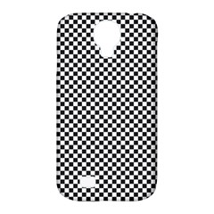 Sports Racing Chess Squares Black White Samsung Galaxy S4 Classic Hardshell Case (pc+silicone) by EDDArt