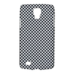 Sports Racing Chess Squares Black White Galaxy S4 Active