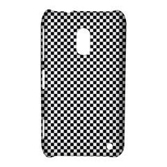 Sports Racing Chess Squares Black White Nokia Lumia 620