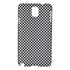 Sports Racing Chess Squares Black White Samsung Galaxy Note 3 N9005 Hardshell Case by EDDArt