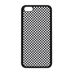 Sports Racing Chess Squares Black White Apple Iphone 5c Seamless Case (black) by EDDArt