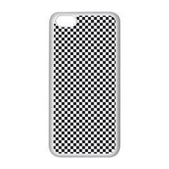 Sports Racing Chess Squares Black White Apple Iphone 5c Seamless Case (white) by EDDArt