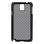 Sports Racing Chess Squares Black White Samsung Galaxy Note 3 N9005 Case (Black) Front