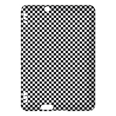 Sports Racing Chess Squares Black White Kindle Fire Hdx Hardshell Case by EDDArt