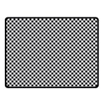 Sports Racing Chess Squares Black White Double Sided Fleece Blanket (Small)  45 x34 Blanket Back