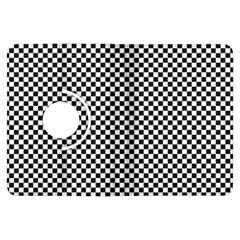 Sports Racing Chess Squares Black White Kindle Fire Hdx Flip 360 Case by EDDArt