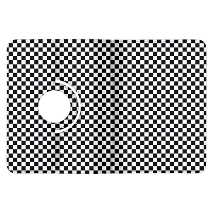Sports Racing Chess Squares Black White Kindle Fire HDX Flip 360 Case