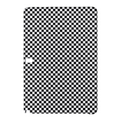 Sports Racing Chess Squares Black White Samsung Galaxy Tab Pro 10 1 Hardshell Case by EDDArt