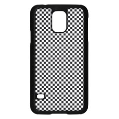 Sports Racing Chess Squares Black White Samsung Galaxy S5 Case (black) by EDDArt