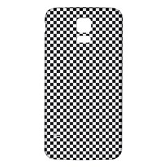 Sports Racing Chess Squares Black White Samsung Galaxy S5 Back Case (white) by EDDArt
