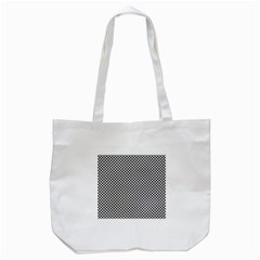 Sports Racing Chess Squares Black White Tote Bag (white) by EDDArt