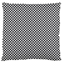 Sports Racing Chess Squares Black White Standard Flano Cushion Case (two Sides) by EDDArt