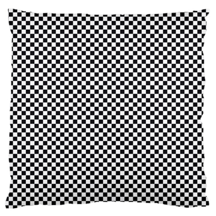 Sports Racing Chess Squares Black White Large Flano Cushion Case (One Side)