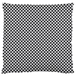Sports Racing Chess Squares Black White Large Flano Cushion Case (Two Sides) Back