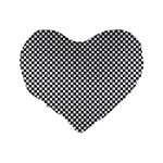 Sports Racing Chess Squares Black White Standard 16  Premium Flano Heart Shape Cushions Back