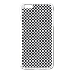 Sports Racing Chess Squares Black White Apple Iphone 6 Plus/6s Plus Enamel White Case
