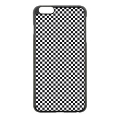 Sports Racing Chess Squares Black White Apple Iphone 6 Plus/6s Plus Black Enamel Case by EDDArt