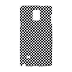 Sports Racing Chess Squares Black White Samsung Galaxy Note 4 Hardshell Case by EDDArt