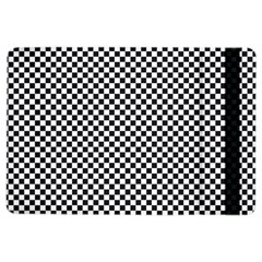 Sports Racing Chess Squares Black White Ipad Air 2 Flip by EDDArt