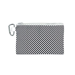 Sports Racing Chess Squares Black White Canvas Cosmetic Bag (s) by EDDArt