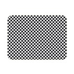 Sports Racing Chess Squares Black White Double Sided Flano Blanket (Mini)  35 x27 Blanket Front