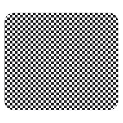 Sports Racing Chess Squares Black White Double Sided Flano Blanket (small)  by EDDArt