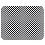 Sports Racing Chess Squares Black White Double Sided Flano Blanket (Medium)  60 x50 Blanket Back