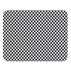 Sports Racing Chess Squares Black White Double Sided Flano Blanket (large)