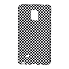 Sports Racing Chess Squares Black White Galaxy Note Edge by EDDArt