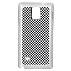 Sports Racing Chess Squares Black White Samsung Galaxy Note 4 Case (white) by EDDArt