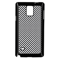 Sports Racing Chess Squares Black White Samsung Galaxy Note 4 Case (black) by EDDArt