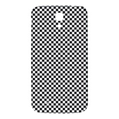 Sports Racing Chess Squares Black White Samsung Galaxy Mega I9200 Hardshell Back Case by EDDArt