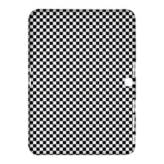 Sports Racing Chess Squares Black White Samsung Galaxy Tab 4 (10 1 ) Hardshell Case  by EDDArt