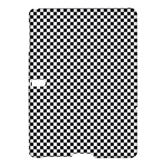 Sports Racing Chess Squares Black White Samsung Galaxy Tab S (10 5 ) Hardshell Case  by EDDArt
