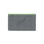 Sports Racing Chess Squares Black White Cosmetic Bag (XS) Back
