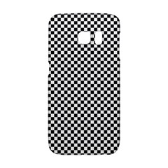 Sports Racing Chess Squares Black White Galaxy S6 Edge by EDDArt