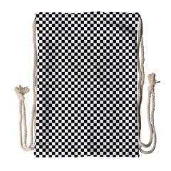 Sports Racing Chess Squares Black White Drawstring Bag (large) by EDDArt