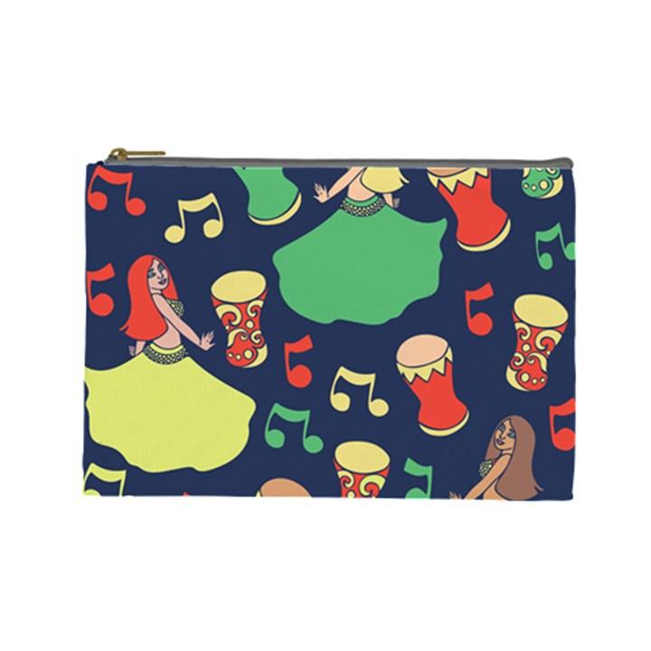 Belly Dance Hafla Doumbek  Cosmetic Bag (Large)