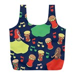 Belly Dance Hafla Doumbek  Full Print Recycle Bags (L)  Front