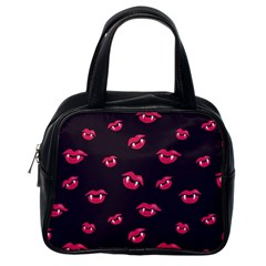 Pattern Of Vampire Mouths And Fangs Classic Handbags (one Side) by CreaturesStore